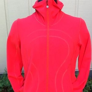 Reddish/Orange Lululemon Scuba Turtleneck Zip Up
